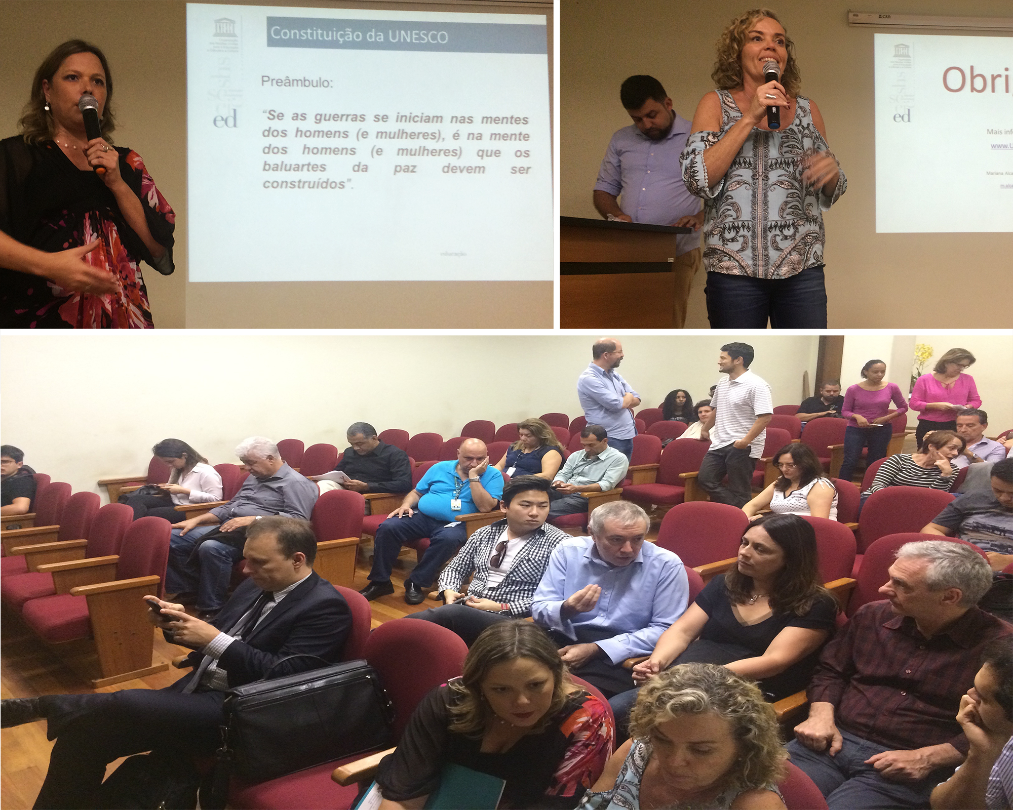 iOpera no evento da SEME e UNESCO - Mariana Alcalay & Silvia Vidor de Sousa Reis
